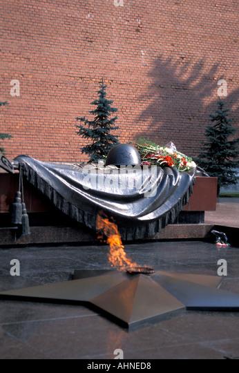 Moscow Russia Kremlin Tomb to Unknown Soldier - Stock Image