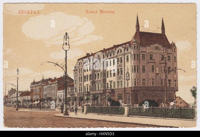 Hotel Moskva, Belgrade, Serbia - Stock Image