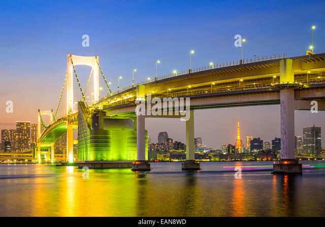 Tokyo, Japan at Tokyo Bay. - Stock Image
