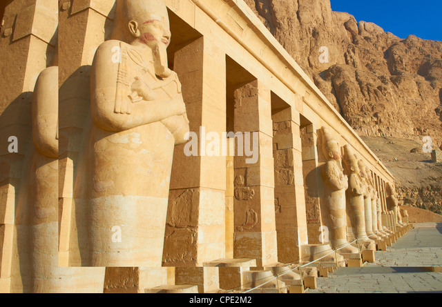 Temple of Hatshepsut, Deir el Bahari, Thebes, UNESCO World Heritage Site, Egypt, North Africa, Africa - Stock Image