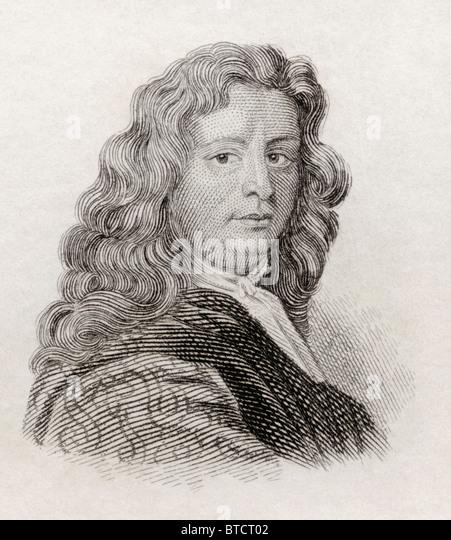 Leonard Plukenet, 1641 to 1706. English botanist, Royal Professor of Botany and gardener to Queen Mary. - Stock Image