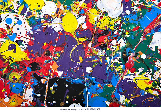 abstract vivid painting - Stock Image