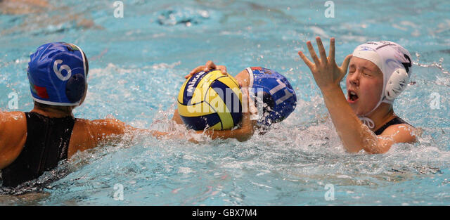 Water Polo - LEN Women's European Nations Trophy - Day Two - Manchester Aquatics Centre - Stock Image