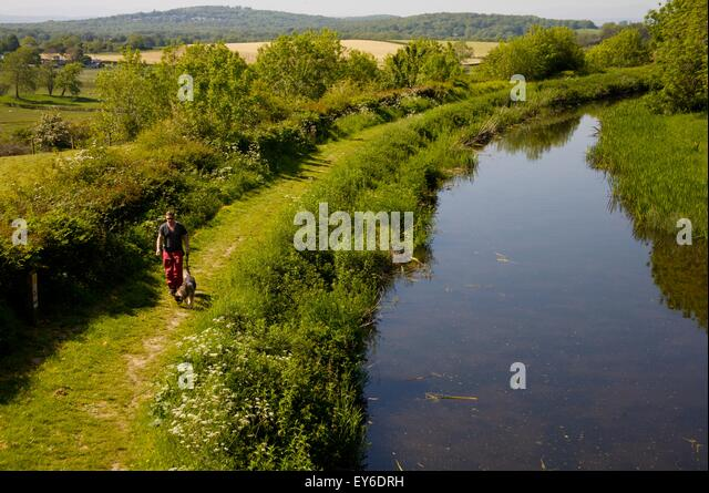 'Northern Reaches' of Lancaster Canal, Cumbria, not connected to the rest of the waterway - Stock Image
