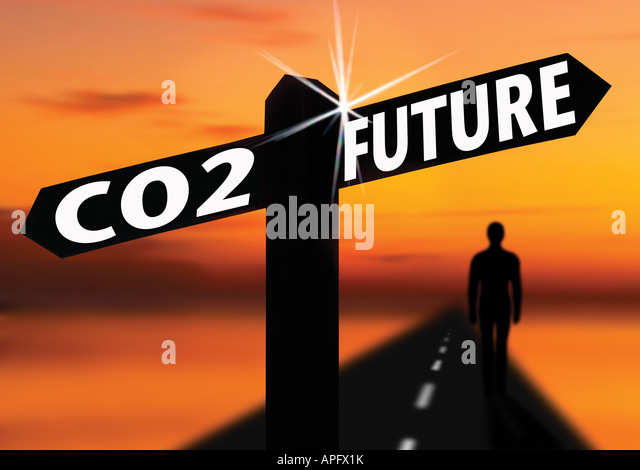 co2 carbon pollution future of environment - Stock Image