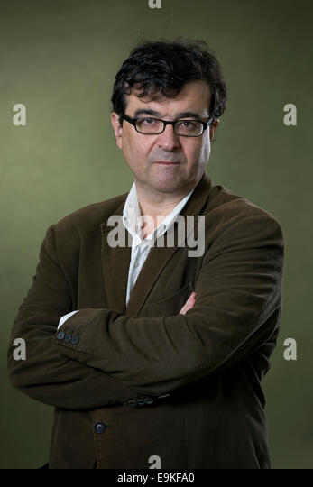 Writer and Professor of Spanish literature, Javier Cercas appears at the Edinburgh International Book Festival. - Stock Image