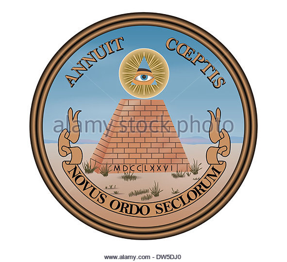 Great Seal of the United States of America logo icon sign - Stock Image