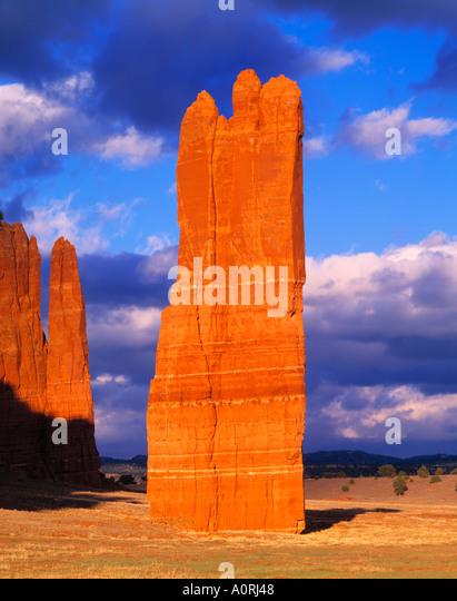 Venus Needle Navajo Reservation New Mexico - Stock Image