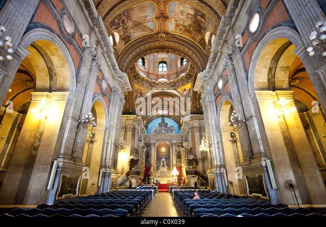 Candelaria Church or Igreja da Candelária, Rio de Janeiro, Brazil - Stock Image
