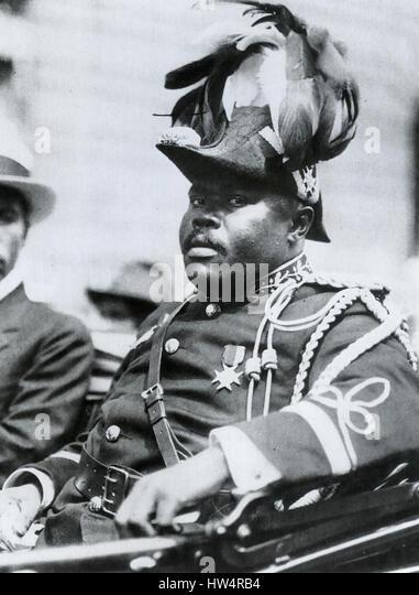 MARCUS GARVEY (1887-1940) Jamaican politician during a visit to Washington in 1922. - Stock-Bilder