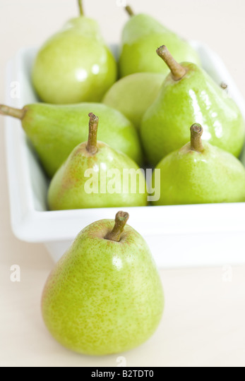 Fresh pears, close-up - Stock Image