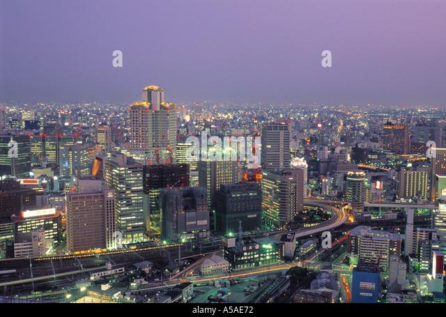 View over Osaka, Japan - Stock Image