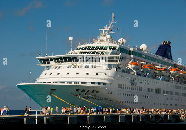 Cozumel Mexico San Miguel  southern cruise dock open space text space copy space type space - Stock Image