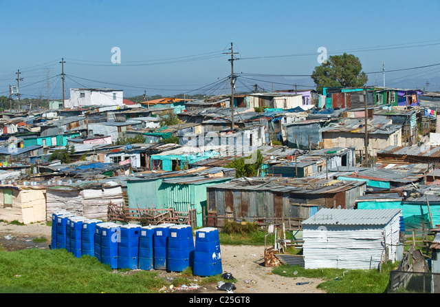 Public toilets in Khayelitsha township in Cape Town South Africa - Stock-Bilder