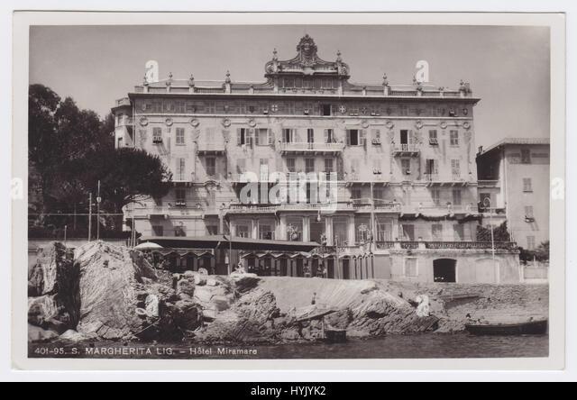 Grand Hotel Miramare, Santa Margherita Ligure, Italy - Stock Image