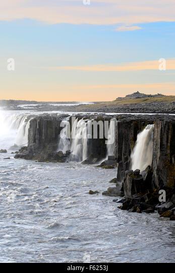 Selfoss Waterfalls, near Reykjahlid, Iceland - Stock Image