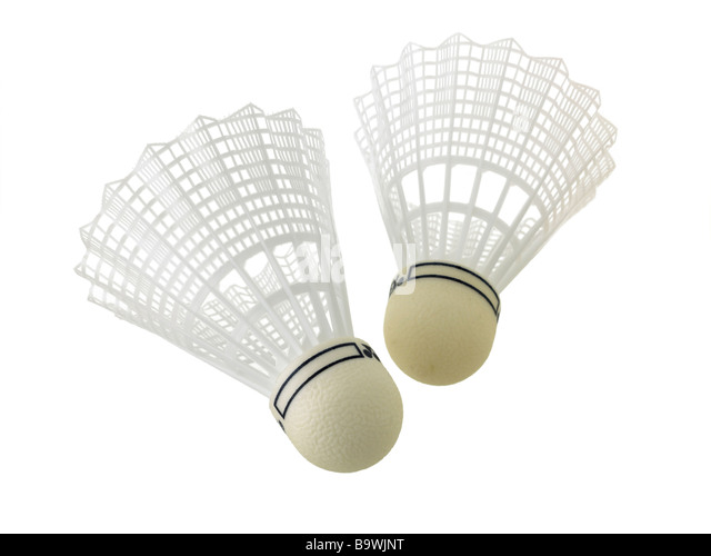 badminton shuttlecocks - Stock Image