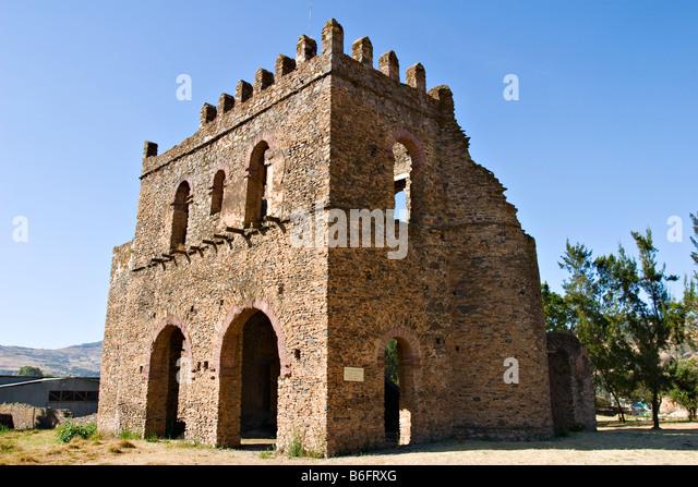 Fasiladas' Archive or Chancellery, Royal Enclosure, Gondar, Ethiopia, Africa - Stock-Bilder