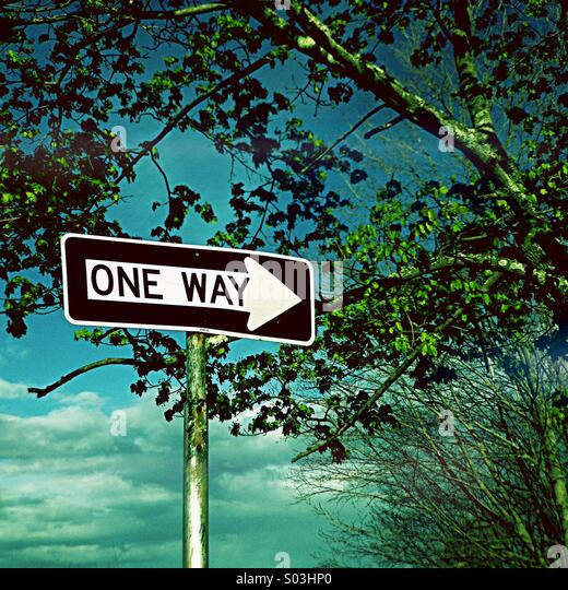 One Way - Stock Image