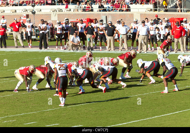American Football College Game - Stock Image