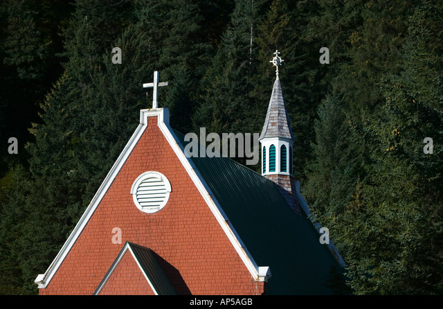 USA, ALASKA, KENAI PENINSULA, SEWARD: St. Peter's Episcopal Church (b.1906) - Stock Image