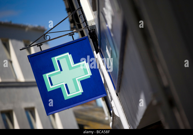 Pharmacy shop sign - Stock Image