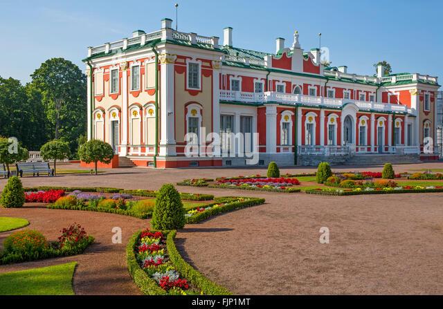 geography / travel, Estonia, Tallinn, baroque palace Kadriorg of Peter the Great, summer palace of czar Peter I, - Stock-Bilder
