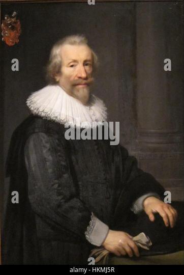 Jan Anthonisz Van Ravesteyn - Portrait of David De Ruyter, 1639 - Stock Image