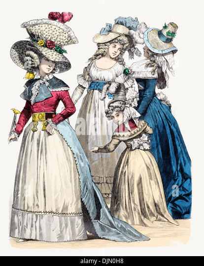Late18th century XVIII 1700s French  Gentry - Stock-Bilder
