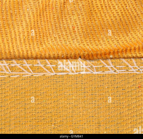 Texture of cloth with stitch. - Stock Image