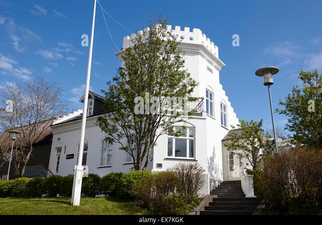 reykjavik arts festival building house gimli iceland - Stock-Bilder
