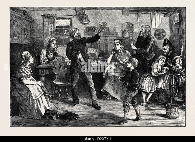 THE STORY OF SEDAN: FIGHTING HIS BATTLES O'ER AGAIN. 1871 - Stock Image