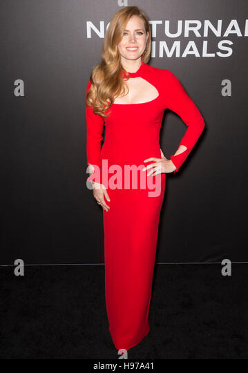 New York City, USA - November 17, 2016: Actress Amy Adams attends the 'Nocturnal Animals' New York premiere - Stock-Bilder