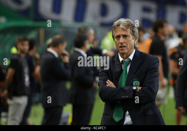 Lisbon, Portugal. 01st Oct, 2017. Sporting«s head coach Jorge Jesus from Portugal during Premier League 2017/18 - Stock Image