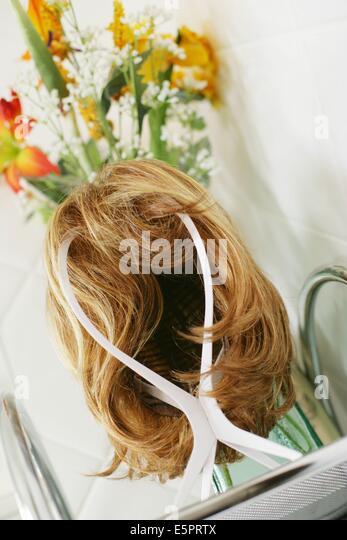 Still life of a wig. - Stock Image