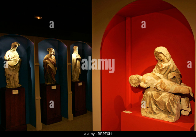 VIRGIN OF PITY AND PROPHETS, MUSEUM OF LE BERRY, HOTEL CUJAS, BOURGES, CHER (18), FRANCE - Stock Image