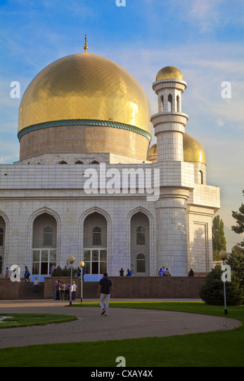 Central Mosque, Almaty, Kazakhstan, Central Asia, Asia - Stock Image
