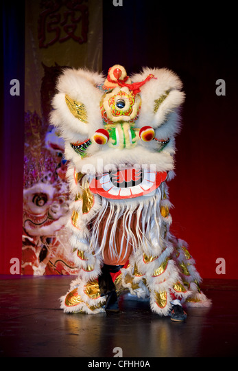 Chinese dragon at Chinese New Year's Festival - Stock Image