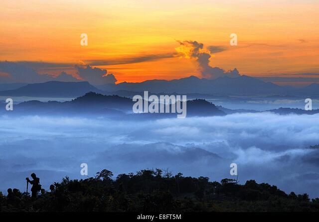 Morning in Tenggeran - Stock Image