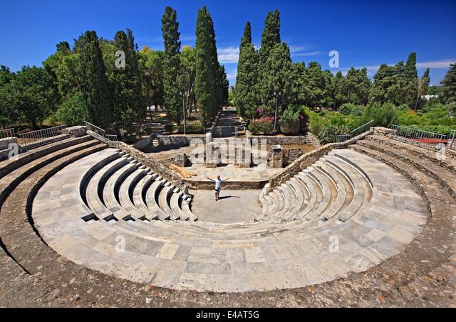 The Roman Odeon of Kos town, Kos island, Dodecanese, Aegean sea, Greece. - Stock Image