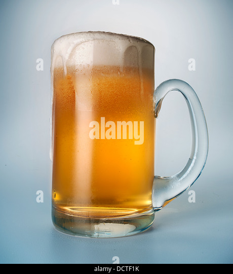 beer glass - Stock Image