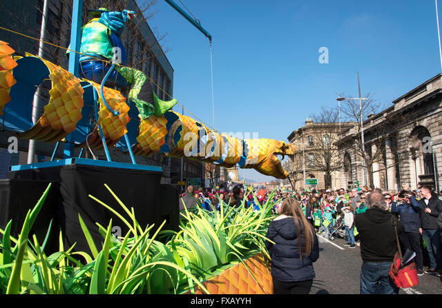 St. Patrick's Day Parade Belfast Northern Ireland - Stock Image