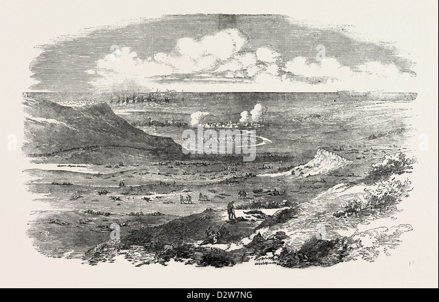 THE CRIMEAN WAR: THE FIELD OF ALMA AFTER THE BATTLE 1854 - Stock Image