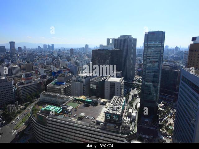 Cityscape of Umeda, Osaka, Osaka, Japan - Stock Image