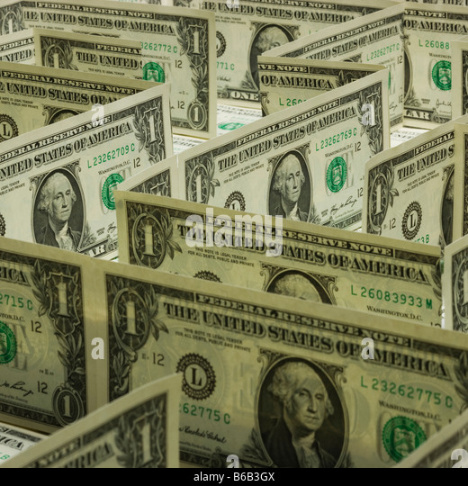 maze of dollars - Stock Image
