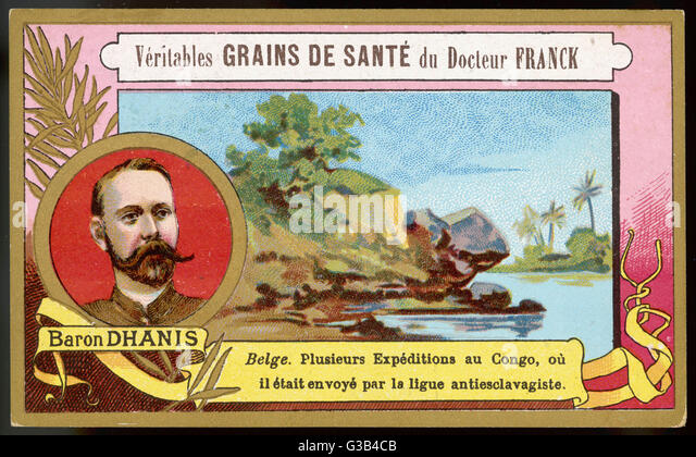 FRANCOIS, BARON DHANIS Belgian colonial adminis-  -trator who made expeditions  into the Congo on behalf of  an - Stock-Bilder