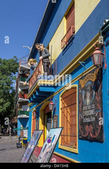 Caminito Centro de Exposiciones, Art Gallery, La Boca, Buenos Aires - Stock Image