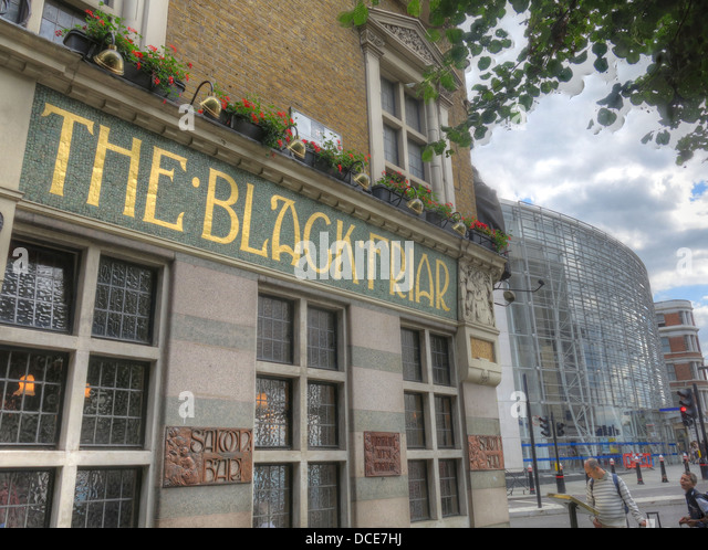 The Black Friar pub Blackfriars London England - Stock Image