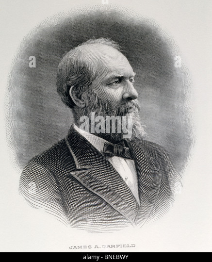 James Garfield, twentieth President of United States, engraving, American History - Stock Image