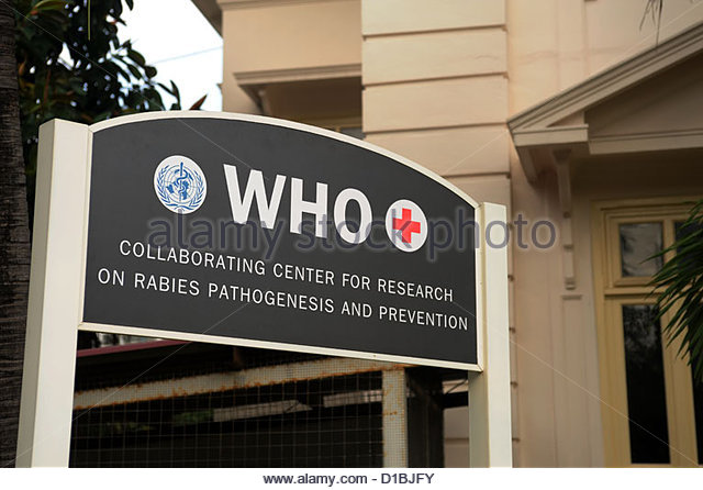 Bangkok Thailand Thai Red Cross Society WHO Collaborating Center for Research on Rabies Pathogenesis and Prevention. - Stock Image